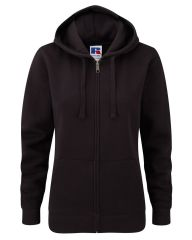 NRG LADIES ZIPPED HOODIE WITH EMBROIDERED LOGO